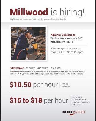 Millwood Is Hiring!