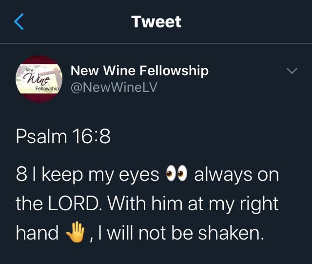 Eyes Always on the Lord
